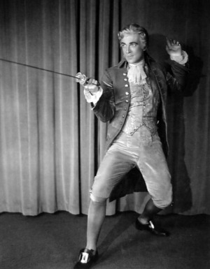 "Walter Pidgeon in costume for ""Sweet Kitty Bellair"""
