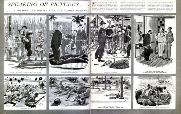Part of the three pages f cartoons drawn by Charles D. Pearson. (LIFE magazine scanned by Comet Over Hollywood)