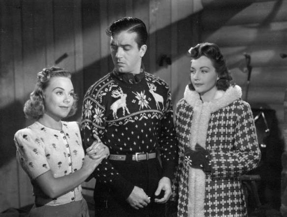 "Sonja Henie, John Payne and Lynn Bari in ""Sun Valley Serenade"""