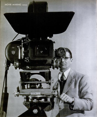 The camera used to shoot The Doughgirls, photographed by Ralph Crane