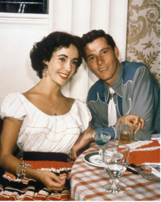 "Elizabeth Taylor with first husband Conrad ""Nicky"" Hilton, Jr."