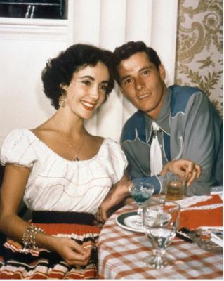"""Elizabeth Taylor with first husband Conrad """"Nicky"""" Hilton, Jr."""