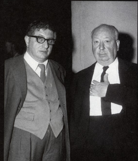 Composer Bernard Herrmann with director Alfred Hitchcock, one of his top artistic collaborators who he later had a falling out with.