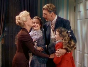 "Grable, Freeman, Dailey and Marshall in ""Mother Wore Tights."""