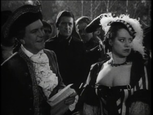 "Frank Morgan and Elsa Lanchester in ""Naughty Marietta"""