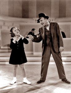 "Shirley Temple and Jimmy Durante in ""Little Miss Broadway."""