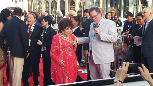 Gina Lollobrigdia on the red carpet (Photo: Jessica P.)