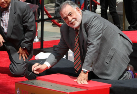 Director Francis Ford Coppola during his hand and foot print ceremony. (Photo/Jessica P.)