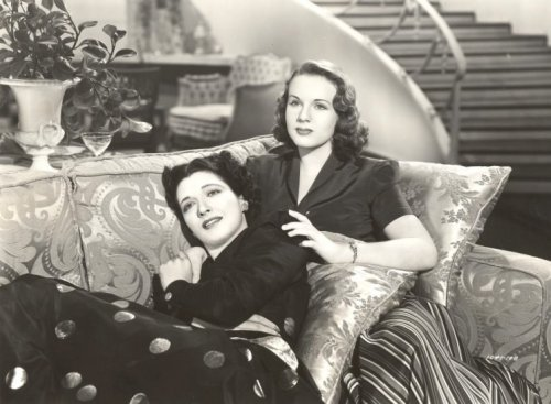 "Kay Francis and Deanna Durbin play mother and daughter in ""It's a Date"""