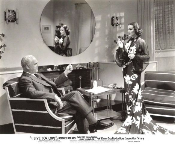 "Benton Churchill and Dolores Del Rio in ""I Live for Love."""
