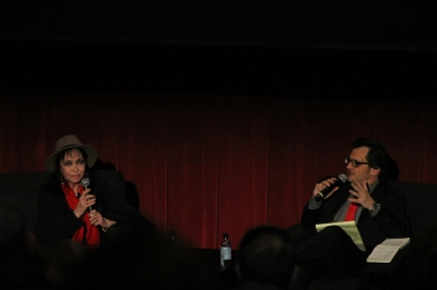 Anna Karina with Ben Mankiewicz