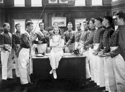 "Ruby Keeler as a lady general in a skit at the end of ""Flirtation Walk"""