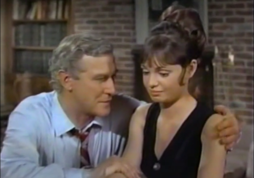 Edward Mulhare as Alex, who is perusing Gidget. (Comet Over Hollywood screencap)