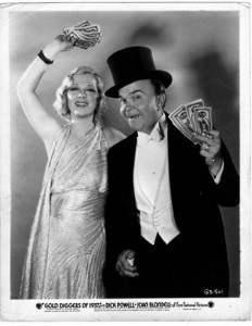 "Glenda Farrell and Victor Moore in ""Gold Diggers of 1937"""