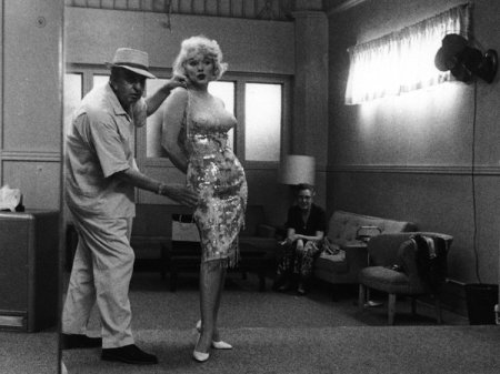 "Orry-Kelly with Marilyn Monroe for ""Some Like it Hot"" (1959)"