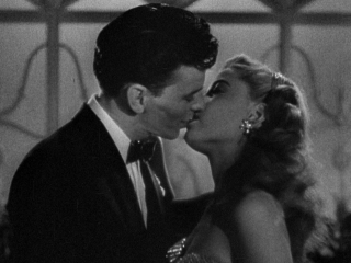 Frank Sinatra's first on-screen kiss with Gloria DeHaven