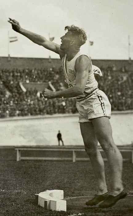 Herman Brix competing in the 1928 Olympics in Amsterdam.