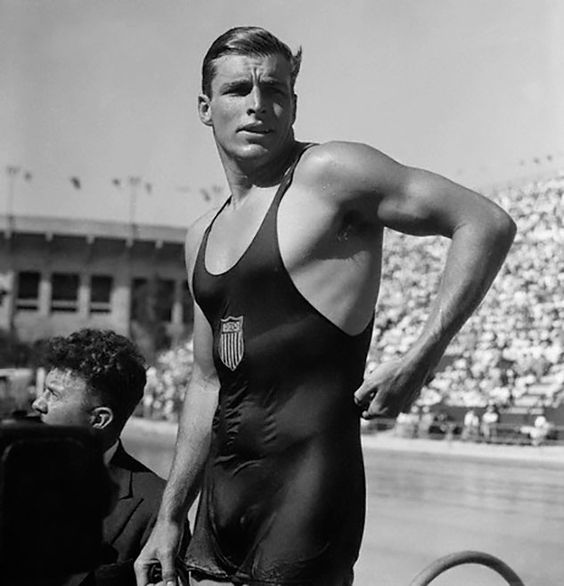 Buster Crabbe at the 1932 Olympics