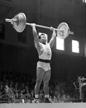 Harold Sakata in the 1948 Olympics