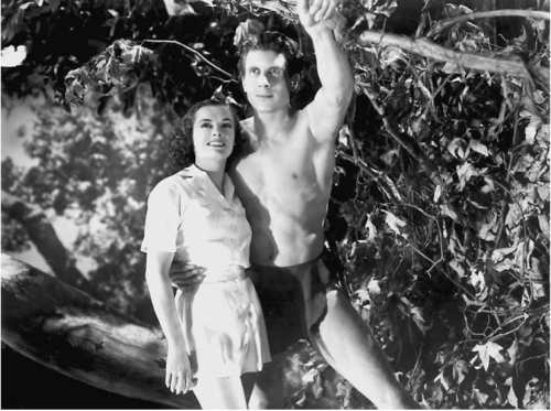 "Olympians Eleanor Holm and Glenn Morris in ""Tarzan's Revenge"" (1938)"