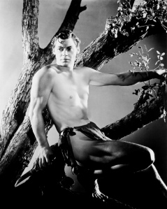 "Johnny Weissmuller as Tarzan in ""Tarzan, the Ape Man"" (1932)"