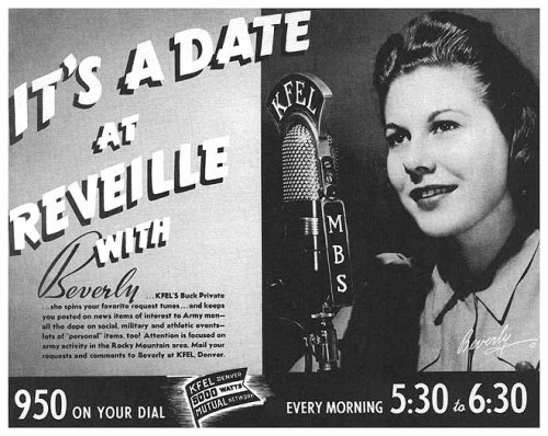 Advertisement for Jean Ruth Hay's radio show.