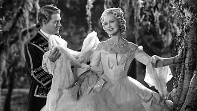 "Nelson Eddy and Jeanette MacDonald in ""New Moon."""