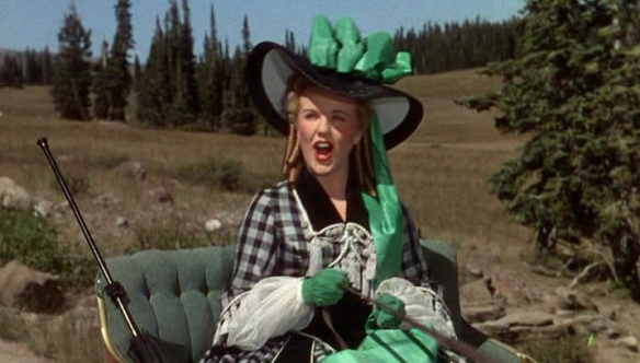 "Deanna Durbin in ""Can't Help Singing,"" her first and only Technicolor film"