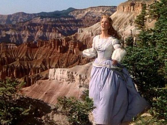 Deanna Durbin on location in Utah at the Cedar Breaks