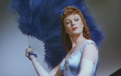 Anna Neagle after the black and white film turns to color for a brief segment.