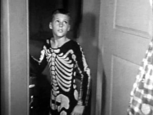 Ricky Nelson in his skeleton costume.