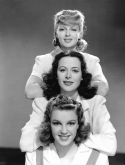 Publicity still of Lana Turner, Hedy Lamarr and Judy Garland