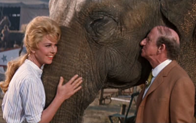 Doris Day, Syd the Elephant and Jimmy Durante