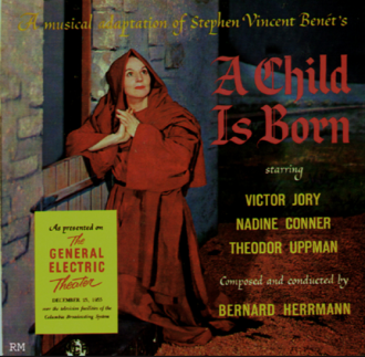 "Album cover for the 1955 version of ""A Child is Born"""