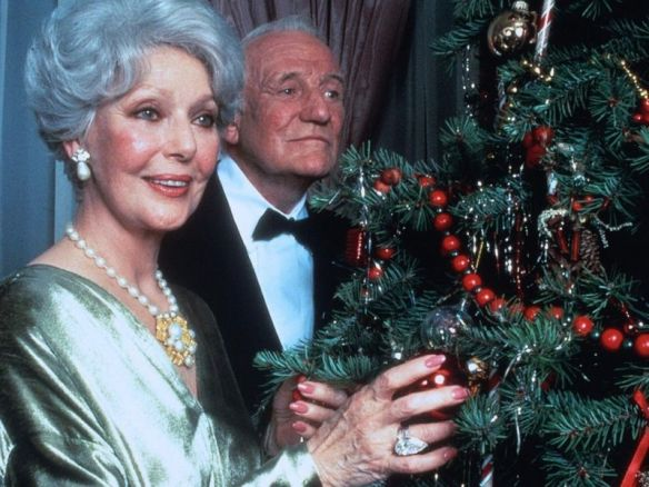 "Loretta Young and Trevor Howard in ""Christmas Eve"" (1986)"