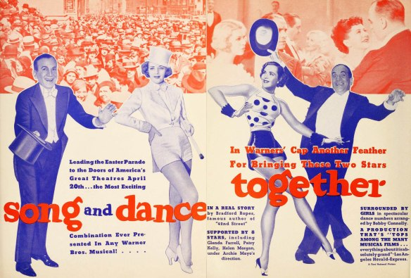 Advertisement for Ruby Keeler and Al Jolson on-screen together for the first (and only) time