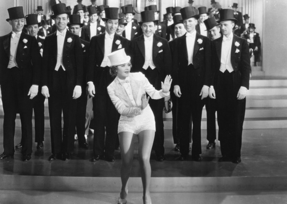 "Keeler dancing in ""Go Into Your Dance."" It doesn't seem like she dances very much in this film."