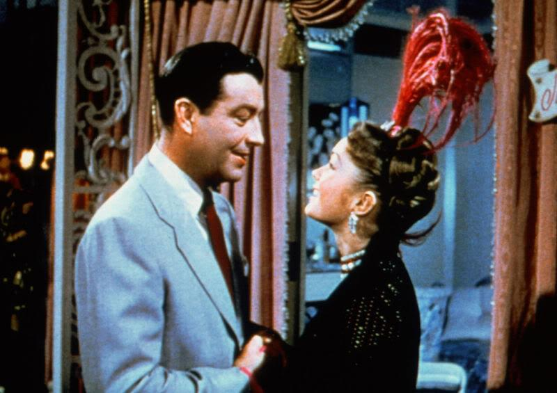 Debbie Reynolds dreaming that she's in a film with Robert Taylor