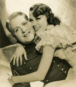"Nelson Eddy and Eleanor Powell in a publicity still for ""Rosalie"""