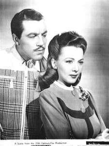 "Cesar Romero and Carole Landis are a romantic couple at odds in ""Wintertime"""