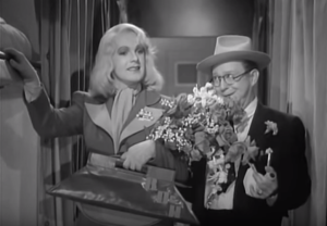 Johnny Downs dressed as a girl with Harry Langdon