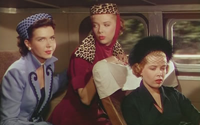 "Ann Miller, Barbara Lawrence and Gloria DeHaven in ""Two Tickets to Braodway"""