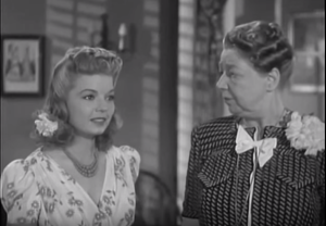 Frances Langford with Esther Dale (Screen cap by Comet Over Hollywood)