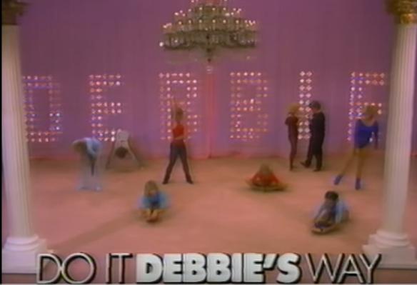 Debbie Reynolds' glamorous workout set